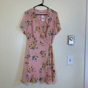 Lush Pink Floral Dress - XL